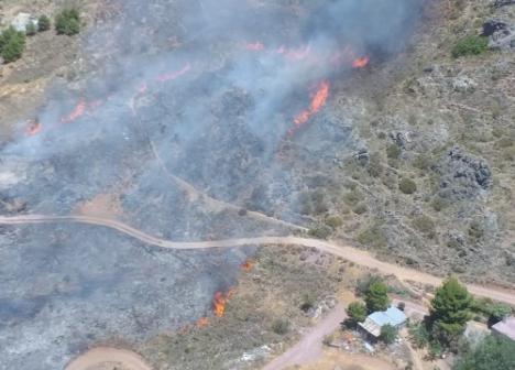 Estabilizado un incendio forestal declarado este domingo en Enix