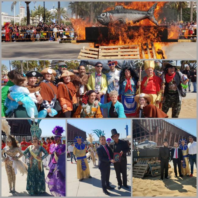 El Carnaval de Almería pone punto y final con el tradicional Entierro de la Sardina