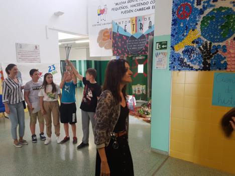 Antorcha De Las Letras llega al CEIP Félix Rodríguez De La Fuente