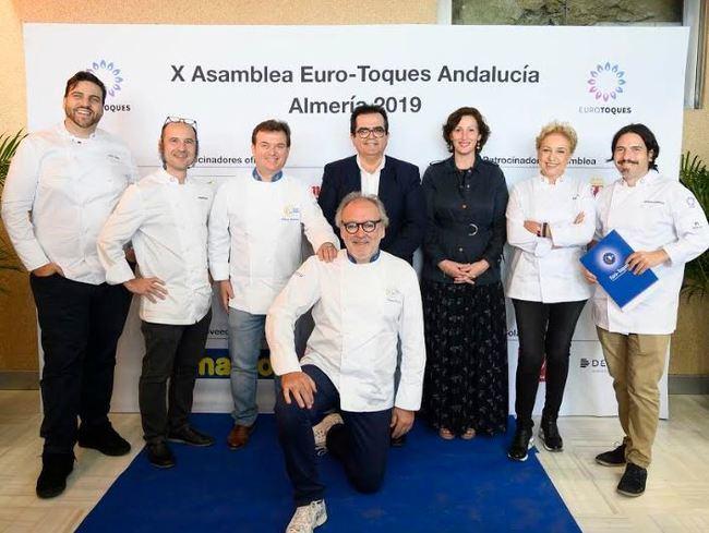 Euro-Toques Andalucía muestra su apoyo a Almería 2019 reuniéndose en la ciudad