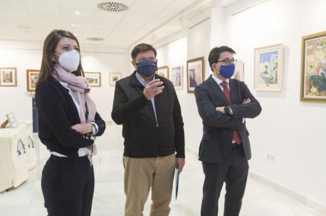 La Galería Alfareros de Diputación se llena de arte almeriense a favor de Manos Unidas