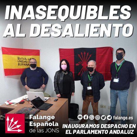El PSOE copia a Andalucía X Sí y pide ahora retirar símbolos falangistas del Parlamento
