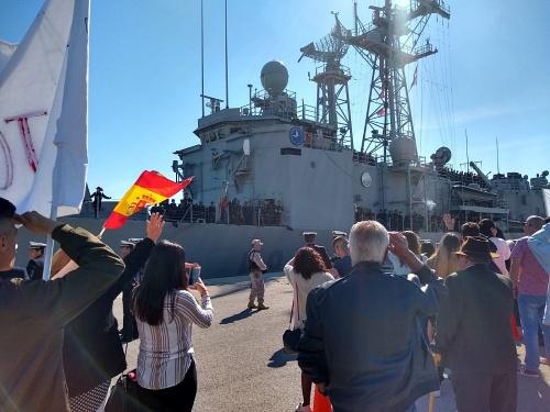 La fragata Santa María hace escala en el puerto de Almería hasta el domingo