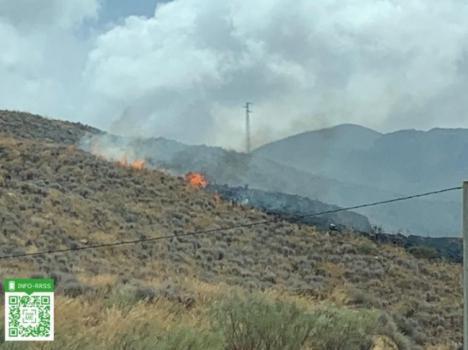 Un incendio forestal en Turre calcina 1,2 hectáreas de matorral