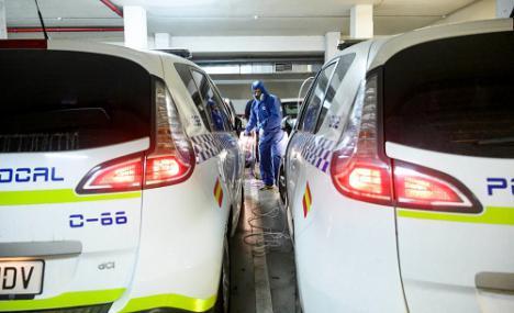 Ozono para desinfectar vehículos y material de Policía Local y Bomberos