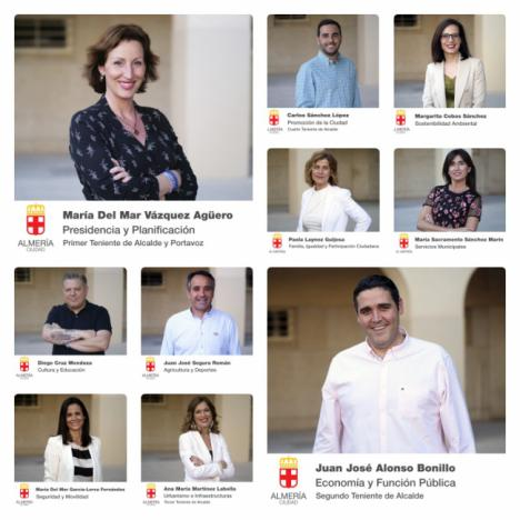 María Vázquez, Juan José Alonso, Ana Martínez Labella y Carlos Sánchez son el nuevo núcleo duro del Ayuntamiento de Almería