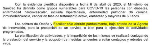 Denuncian que la hija de la alcaldesa de Las Tres Villas tiene cerrado el Guadalinfo