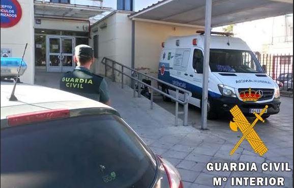 Guardia Civil salva la vida de una mujer agredida por su pareja en Vera