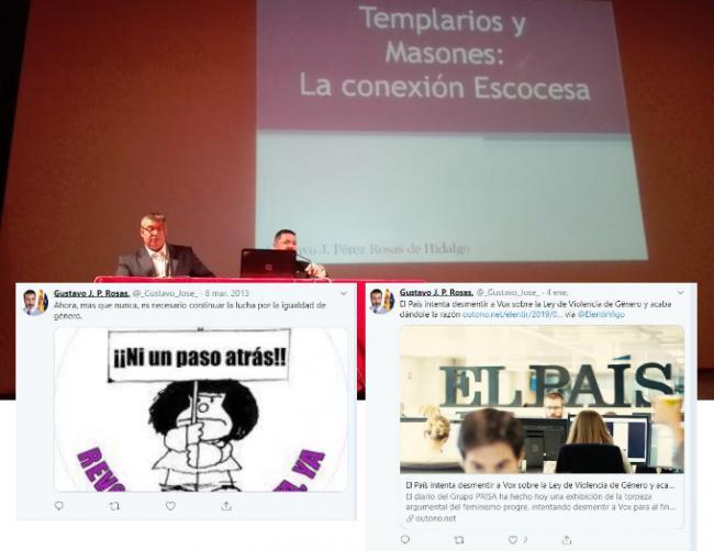 La campaña de Vox en Almería la dirige un masón que bromea sobre Franco y defiende el 25M