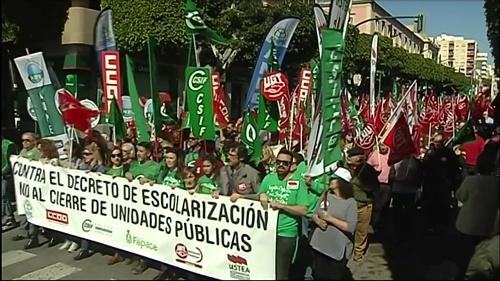 El 80% de los docentes no secunda la huelga en Almería