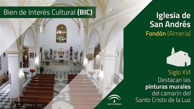 Aprobada la declaración de la iglesia de San Andrés de Fondón como BIC