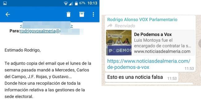 Alonso (Vox) conocía los detalles de la sede electoral que niega a los afiliados