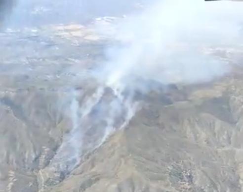 Incendio forestal en Sierra Cabrera