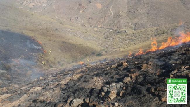 Estabilizado un incencido en Huércal de Almería