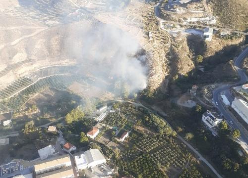 Extinguido el incendio forestal de Líjar