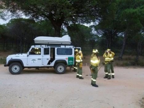 Controlado el incendio declarado en el paraje Cerro Jandas de Dalías