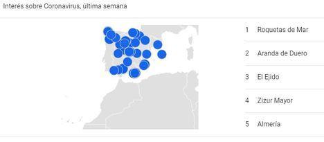 Los vecinos de Roquetas son los que más información demandan sobre el #COVID19 de toda España