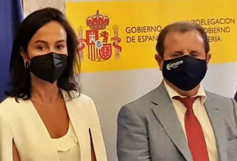 El presidente de la Cámara rebaja el tono reivincativo #ObjetivoAveAlmería ante la Secretaria de Estado