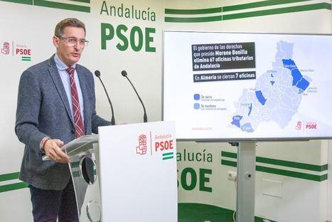 El PSOE insta a la reapertura las 7 oficinas liquidadoras cerradas en Almería