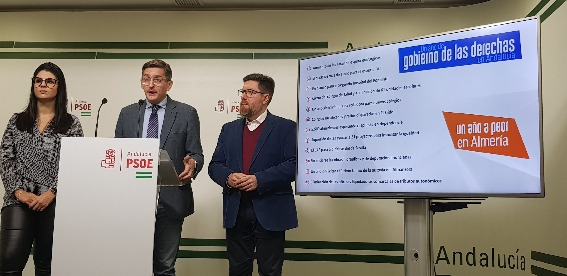 El PSOE sostiene que Almería vuelve a la época de Rajoy