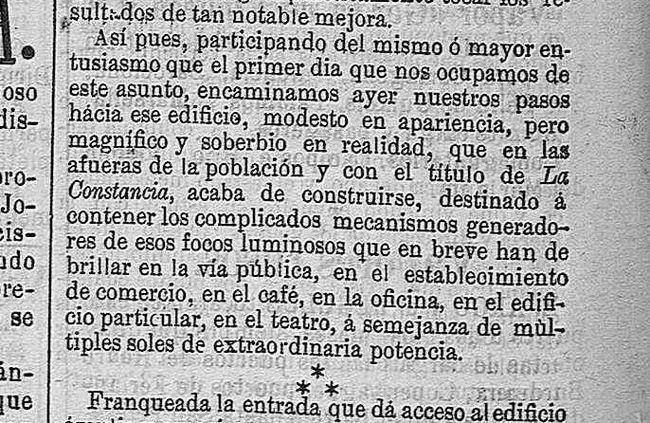 Hace 130 años que un médico y un fotógrafo crearon la primera compañía eléctrica de Almería