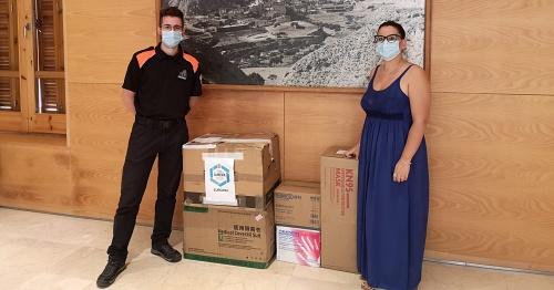 Protección Civil culmina el tercer reparto de mascarillas y EPIS de la Diputación