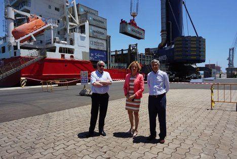 Maersk comienza sus operaciones logísticas semanales con un buque con capacidad para 450 contenedores