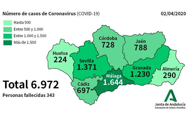 Curados 16 almerienses en un día y 28 nuevos contagiados por #COVID19