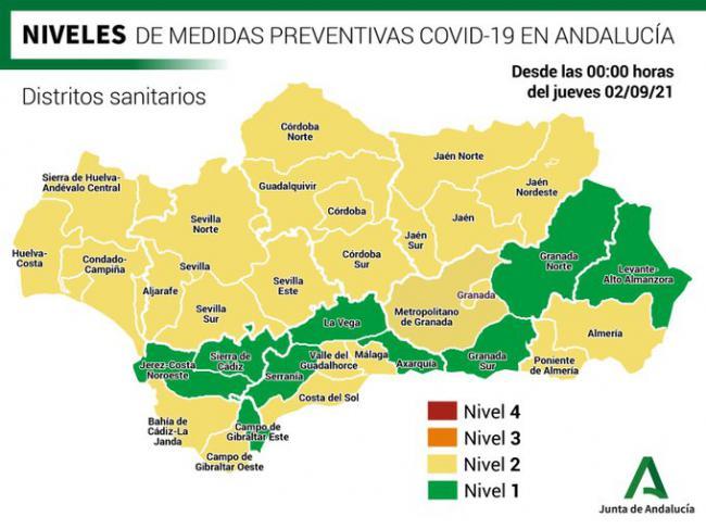 Almería es hoy la tercera de Andalucía con más contagios