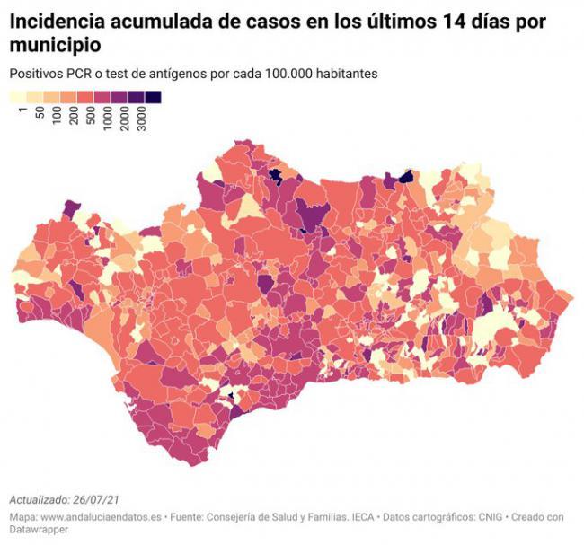Fin de semana con 342 contagios en Almería