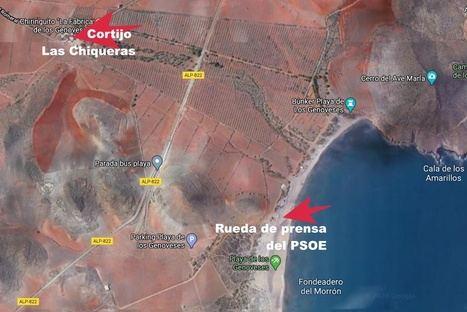 El PSOE oculta el Cortijo cuya rehabilitación cuestiona y se lleva a la prensa a dos kilómetros