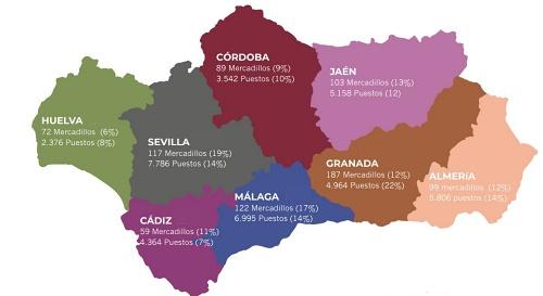 Hasta cinco municipios almerienses tiene mercadillos más importantes que la capital