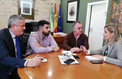 Visita institucional de la delegada del Gobierno a Alhama