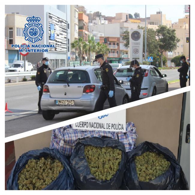 Detenido transportando 11 kilos de marihuana en su coche