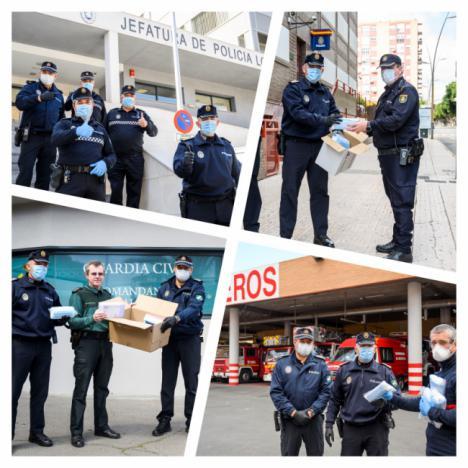 ALTEA dona 1.500 mascarillas, a Policía Local, Nacional, Bomberos y Guardia Civil
