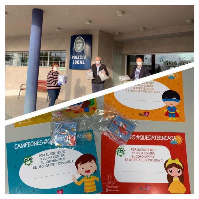 El Ayuntamiento de Vera distribuye 2.000 mascarillas infantiles