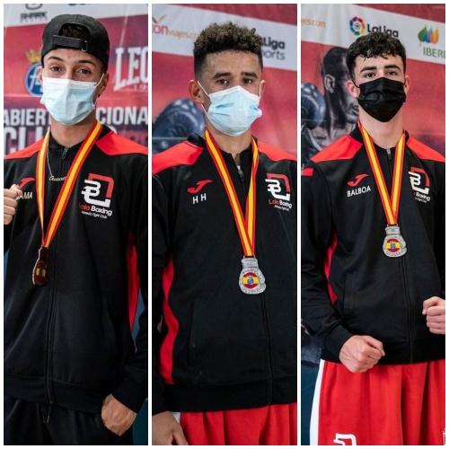 La EDM Club Lola Boxing triunfa con tres medallas en el Abierto Nacional de Murcia