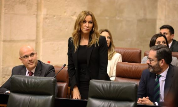 Mercedes López (Cs) jura su cargo como diputada en el Parlamento de Andalucía