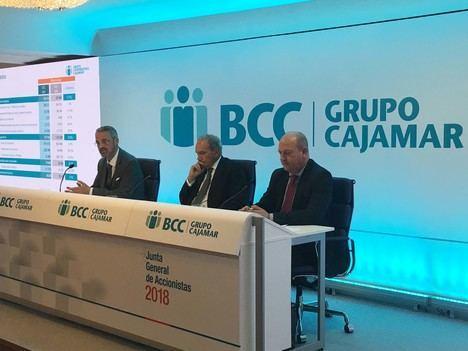Cajamar incrementa la concesión de crédito, eleva su resultado y refuerza su solvencia