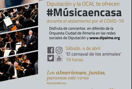 Diputación y OCAL ofrecen #MúsicaEnCasa durante el aislamiento por #COVID19