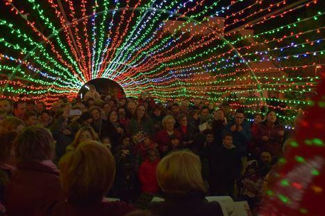 300.000 bombillas iluminan la Navidad en Vícar