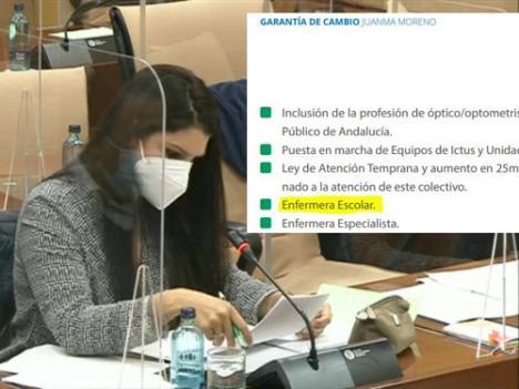 """Noemí Cruz dice que el PSOE """"siempre"""" defendió la enfermería escolar pero es el PP quien la llevaba en su programa"""