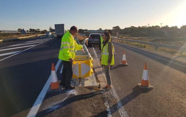 Instalado un atenuador de impacto en la Autovía del Aeropuerto