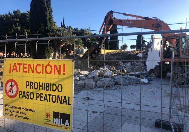 Un talud vegetal sustituirá el muro que separa la calle Emilio Campra Bonillo