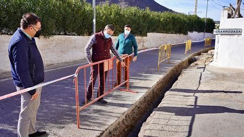 Obras de saneamiento de agua en Peñarrodada