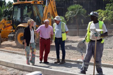 Cabrera y Bonilla Visitan Las Obras De Conexión Peatonal Entre Barrio Archilla Y El Parador