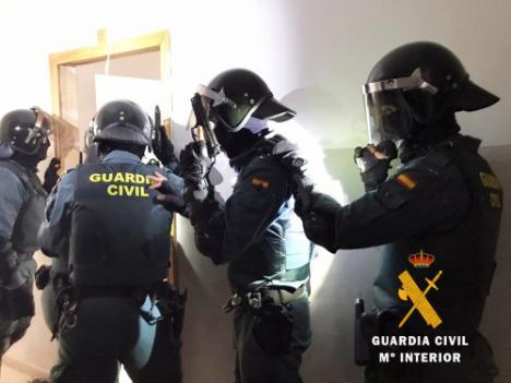 Desmantelan un narco-bloque con 4.200 plantas de marihuana en Roquetas
