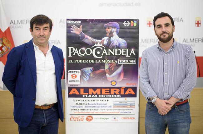Paco Candela actuará el 9 de agosto en la Plaza de Toros de Almería