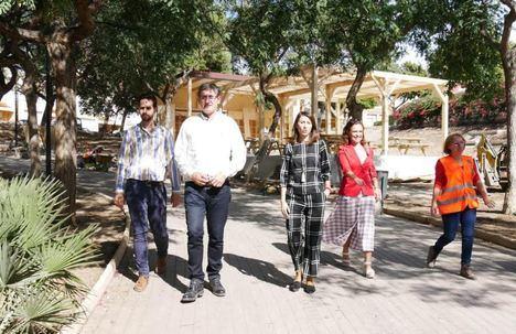 Recta final de la renovación del Parque del Cercado de Adra