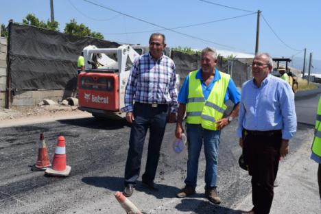 Finalizan Las Obras De Pavimentación De Los Cinco Caminos Municipales De Vícar
